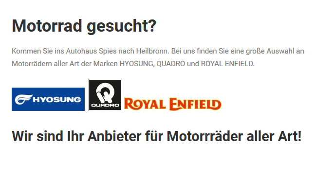 Motorrad für  Kürnbach